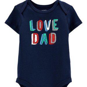 CARTER'S Boy's Love Dad Collectible Bodysuit | 6M